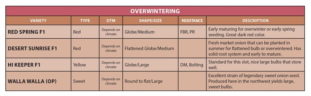 Onion Chart 4 Overwintering